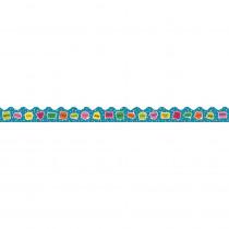 CD-108253 - School Pop Hello Scalloped Border in Border/trimmer