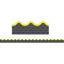 CD-108298 - Hexagons Scalloped Border Gr Pk-8 in Border/trimmer