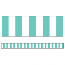 CD-108356 - Turquoise Stripe Straight Borders Simply Stylish in Border/trimmer