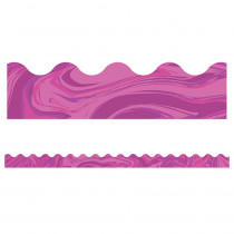 CD-108379 - Pink Marble Scalloped Borders in Border/trimmer