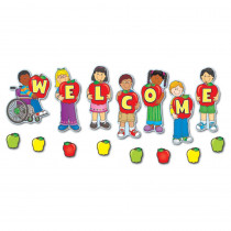 CD-110046 - Welcome Mini Bulletin Board Set in Classroom Theme
