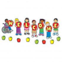 CD-110046 - Welcome Mini Bulletin Board Set in Classroom Theme