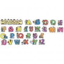 CD-110069 - Alphabet Kids Kid-Drawn Bulletin Board Set Pk-1 in Letters