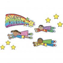 CD-110100 - Super Kids Job Assignment Kid-Drawn Bulletin Board Set in Motivational