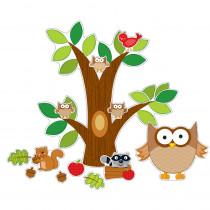 CD-110137 - Owl Bulletin Board Set in Classroom Theme
