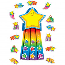CD-110143 - Shooting Stars Bulletin Board Set in Classroom Theme