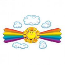 CD-110144 - Sun And Rainbow Bulletin Board Set in Classroom Theme