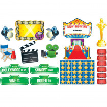CD-110145 - Lights Camera Action Bulletin Board Set in Classroom Theme
