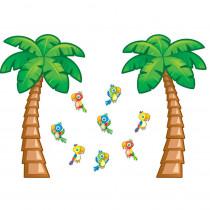 CD-110159 - Tropical Trees Bulletin Board Set in Classroom Theme