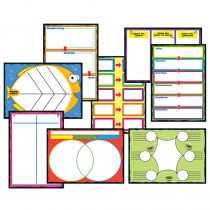 CD-110161 - Graphic Organizers Bulletin Board Set in Classroom Theme
