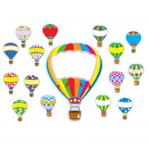 CD-110163 - Hot Air Balloons Bulletin Board Set in Classroom Theme