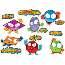 CD-110174 - Super Shapes Bulletin Board Set in Classroom Theme