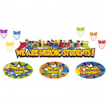 CD-110314 - Super Power Heroic Students Bulletin Board Set in Motivational