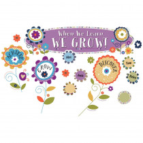 CD-110322 - You-Nique When We Learn We Grow Bulletin Board Set in Motivational