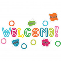 CD-110333 - School Pop Welcome Bulletin Board Set in Classroom Theme