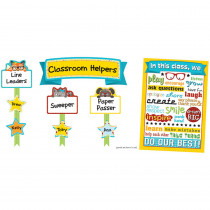 CD-110337 - Hipster Classroom Management Bulletin Board Set in Classroom Theme