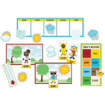CD-110339 - Hipster Weather Bulletin Board Set in Science