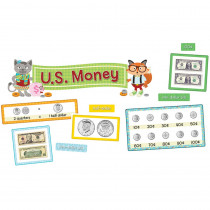 CD-110340 - Hipster U.S. Money Bulletin Board Set in Social Studies