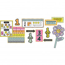 CD-110344 - Understanding Fractions Bulletin Board Set Gr 1-3 Curriculum in Math