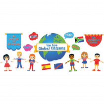 CD-110346 - We Are Global Citizens Bulletin Board Set Gr Pk-5 Curriculum in Social Studies