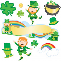 CD-110351 - St Patricks Day Mini Bulletin Board Set Gr Pk-5 in Holiday/seasonal