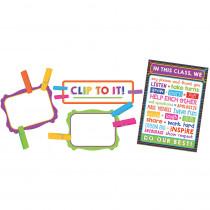 CD-110352 - Clip Chart Class Mgmt  Bulletin Board Set Gr Pk-5 in Classroom Theme