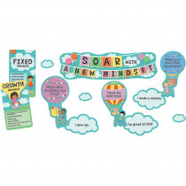 CD-110360 - Soar With A New Mindset Bulletin Board Set Gr Pk-5 Mini in Motivational