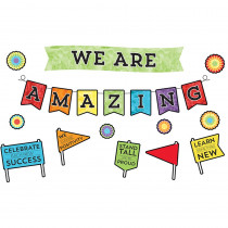 CD-110373 - Celebrate Learning We R Amazing Bulletin Board Set in Classroom Theme