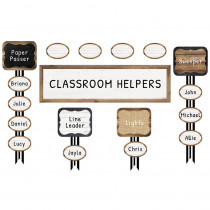CD-110399 - Industrial Chic Job Assign Mini Bulletin Board Set School Girl Style in Miscellaneous