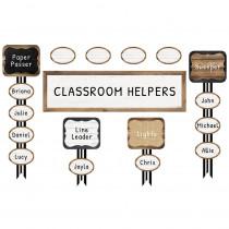 CD-110399 - Industrial Chic Job Assign Mini Bulletin Board Set School Girl Style in Miscellaneous