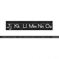 CD-110402 - Industrial Chic Alphabet Line Mnscrpt Mini Bulletin Board Set School Girl Style in Language Arts