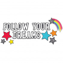 CD-110405 - Stars Follow Your Dreams Bulletin Board Set School Girl Style in Miscellaneous