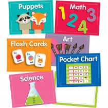 CD-110422 - Just Teach Center Cards Mini Bb St in Classroom Theme