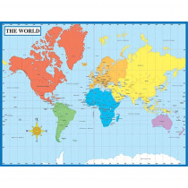 CD-114096 - Map Of The World Laminated Chartlet 17X22 in Social Studies