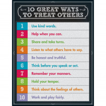 CD-114123 - 10 Great Ways To Treat Others Chartlet Gr 1-5 in Social Studies