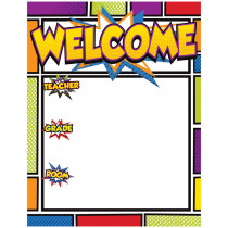 CD-114205 - Super Power Welcome Chartlet in Classroom Theme