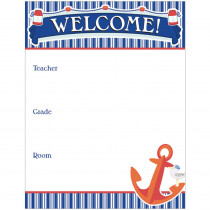 CD-114220 - Welcome Chartlet Gr Pk-8 Decorative in Classroom Theme