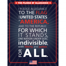 CD-114234 - The Pledge Allegiance Chart Gr K-8 Social Studies in Social Studies