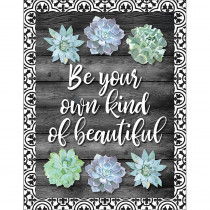CD-114260 - Be Your Own Kind Of Beautiful Chart Simply Stylish in Classroom Theme