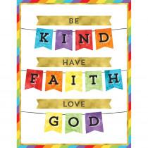 CD-114283 - Be Kind Have Faith Love God Chart in Motivational