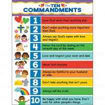 CD-114289 - Ten Commandments Chart in Motivational