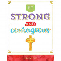 CD-114293 - Be Strong And Courageous Chart in Motivational