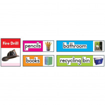 CD-119016 - Classroom Labels Photographic Quick Stick Bulletin Board Set Gr K-2 in Quick Stick