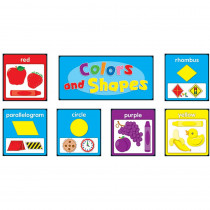 CD-119017 - Colors And Shapes Quick Stick Bulletin Board Set Gr Pk-2 in Quick Stick