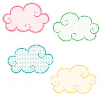 CD-120528 - Clouds Mini Cutout Gr Pk-5 Assorted in Accents