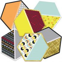 CD-120531 - Hexagons Cutout Asst Gr Pk-5 in Accents