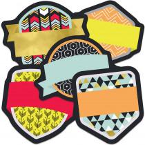 CD-120534 - Badges Mini Asst Cutout Gr K-5 in Accents