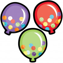 CD-120536 - Celebrate Colorful Cutouts Balloons Learning in Accents