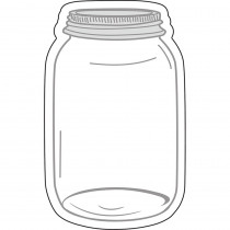 CD-120543 - Industrial Chic Mason Jars Cut Outs School Girl Style in Accents