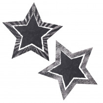 CD-120548 - Stars Chalkboard Stars Cut Outs School Girl Style in Accents